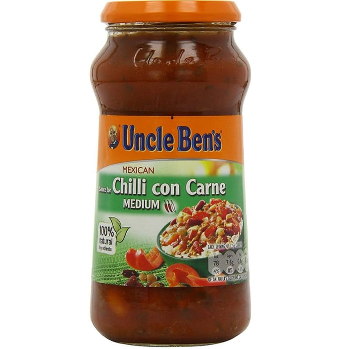 Uncle Bens Sauce Mexican Medium Chilli Con Carne