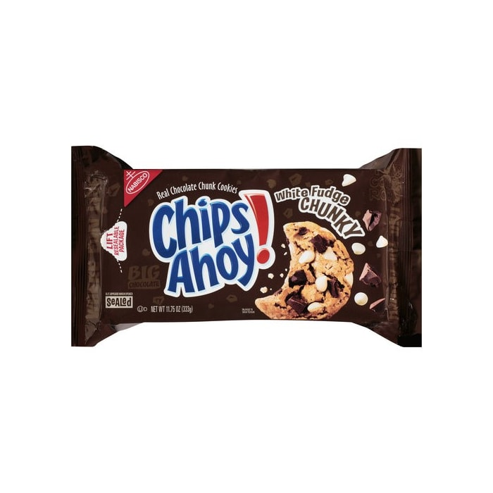 Nabisco Chips Ahoy Real Chocoalte Chunk White Fudge Chunky Cookies