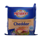 President Cheese Burger With Cheddar Slices