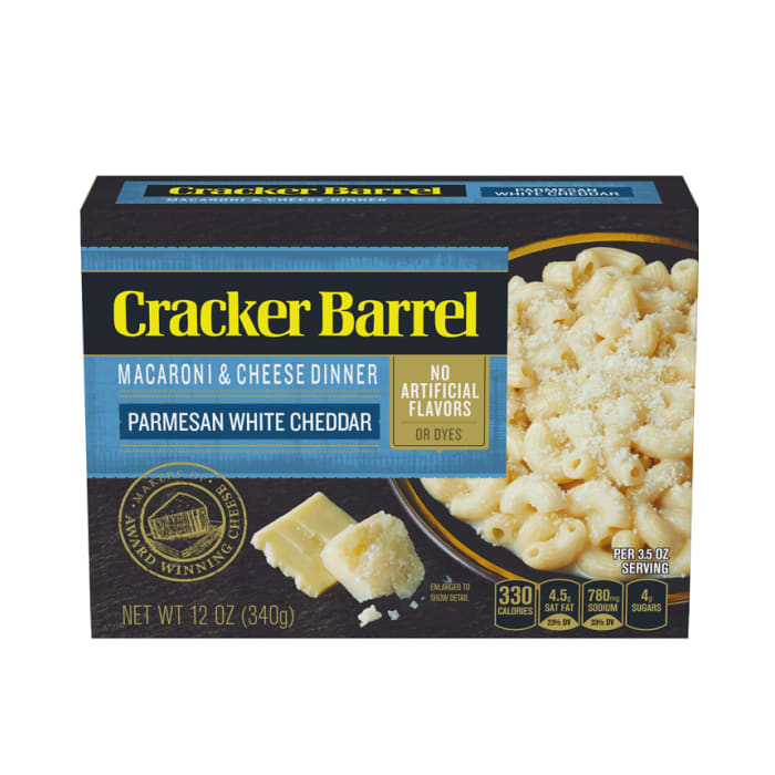 Cracker Barrel Macaroni and Cheese Parmesan White Cheddar