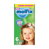 Molfix Diapers Extra Large Size 6 - 15+ Kg - 52 Pieces