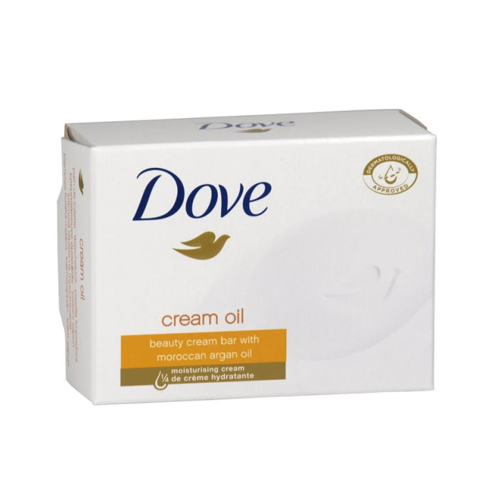 Dove Cream Oil Beauty Cream Bar with Moroccan Argan Oil