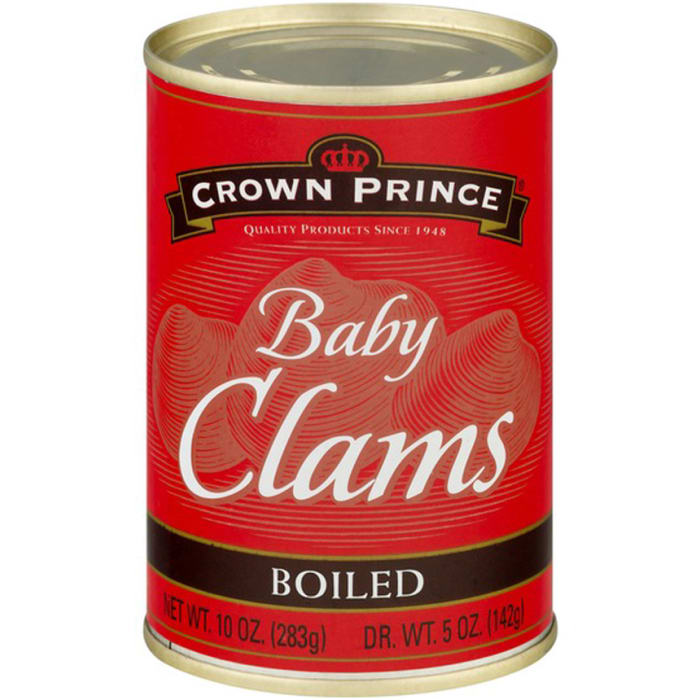 Crown Prince Baby Clams Boiled 283g