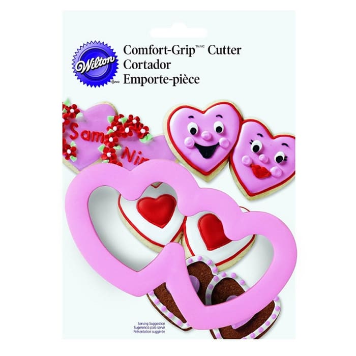 Wilton Double Heart Comfort Grip Cutter