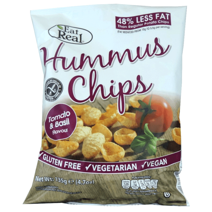 Eat Real Hummus Chips Tomato & Basil Flavour