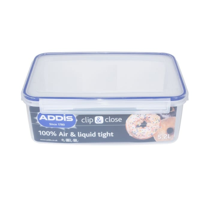 Addis Food Storage Container Clip & Close Liquid Tight