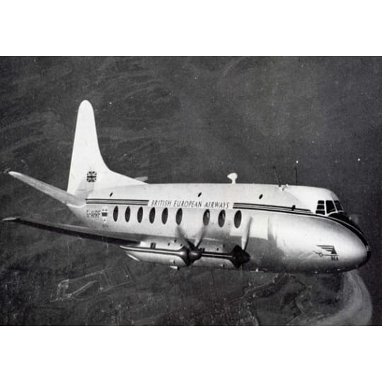 British European Airways Airplane - A4 (210 x 297mm)