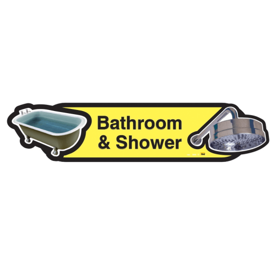 Bathroom and Shower sign