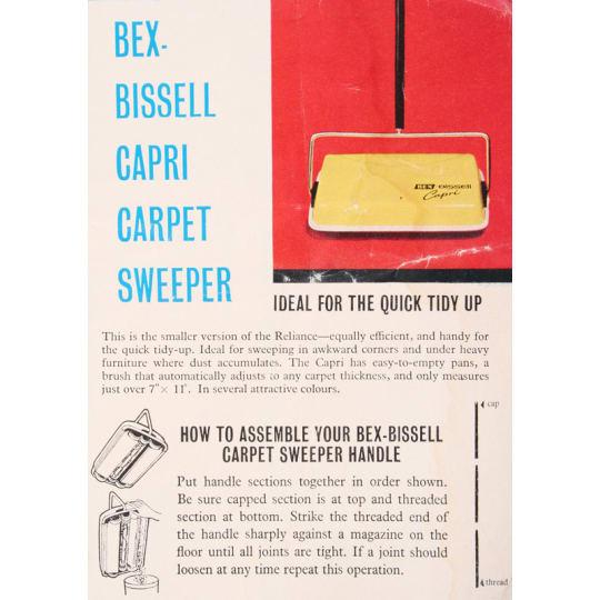 Dementia friendly Bex-Bissel Sweeper - A4 (210 x 297mm)