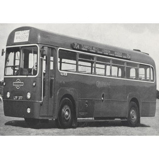 Single decker London Bus in black and white - A4 (210 x 297mm)