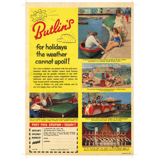 Butlins Holiday - A4 (210 x 297mm)