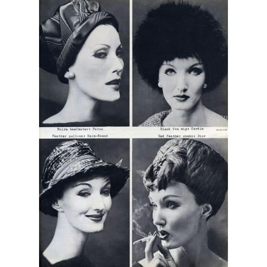 Dementia friendly Women's Feather Hat Fashion - A4 (210 x 297mm)