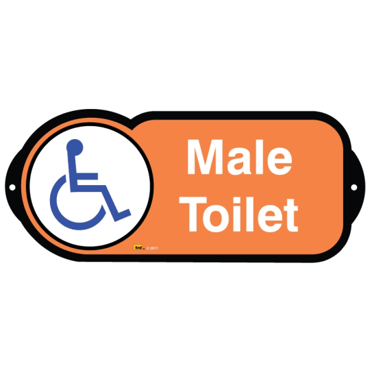Male Toilet Disabled sign for autism and learning disabilities - signage