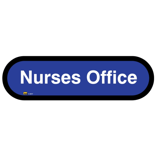Nurse's Office sign for autism and learning disabilities - signage