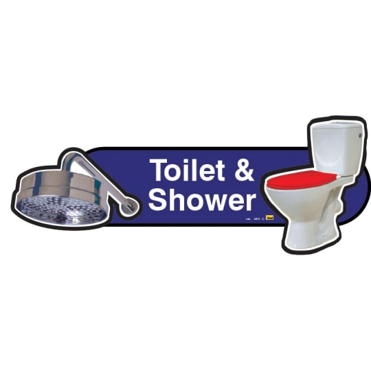 Toilet and Shower sign  - Dementia Signage
