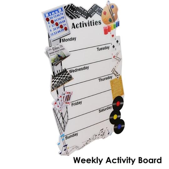 Dementia friendly Weekly Activities Board