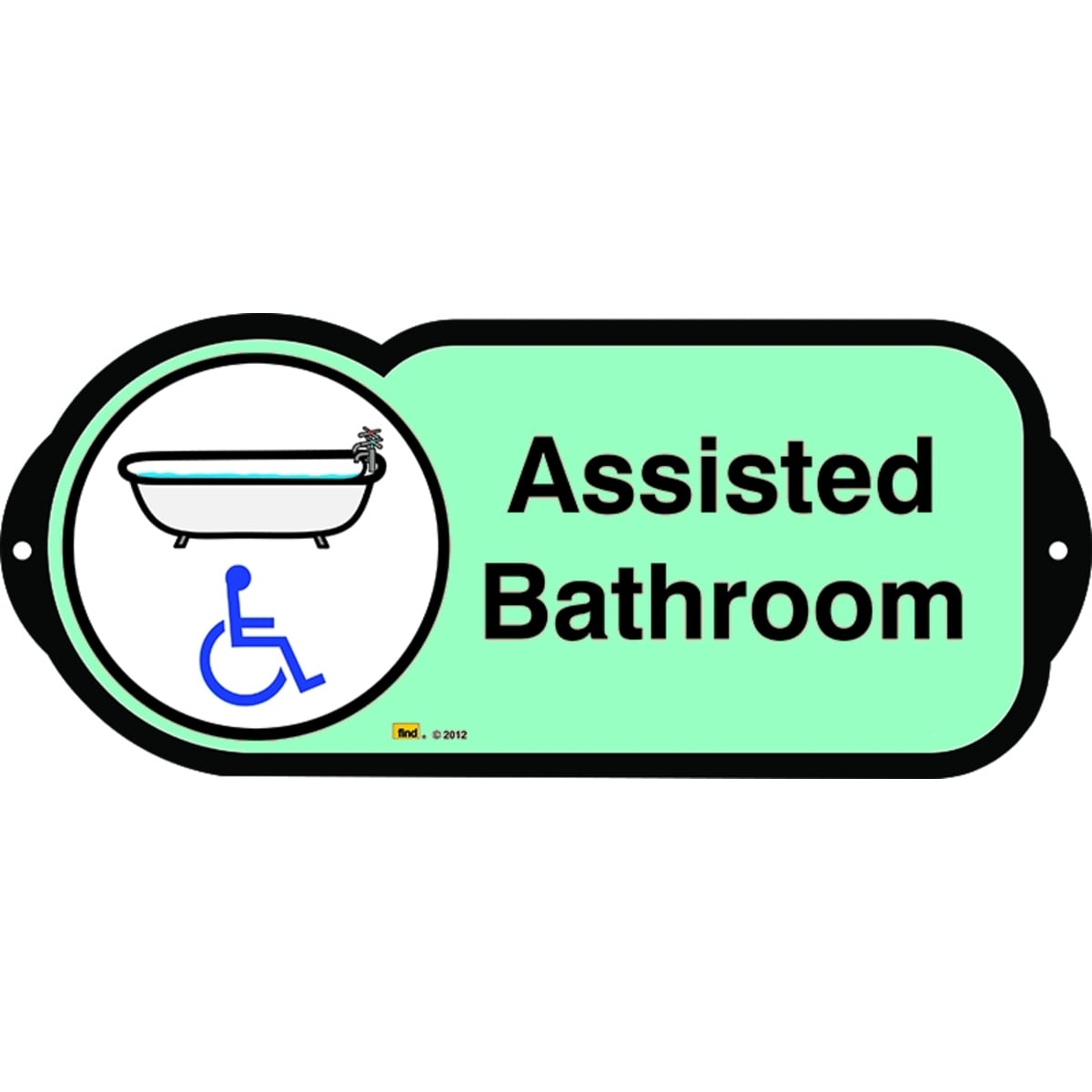Assisted Bathroom sign for autism and learning disabilities - signage