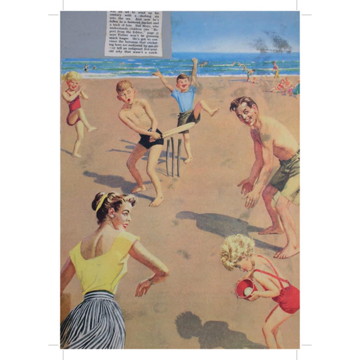 Beach Family - A4 (210 x 297mm)