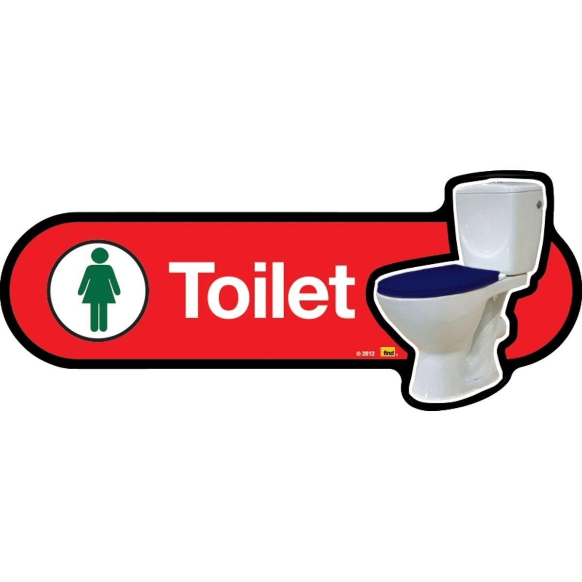 Female Toilet with Symbol - Dementia Signage