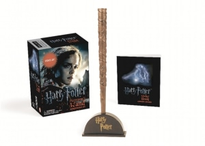 Harry Potter Hermione's wand with sticker kit. Lights up!