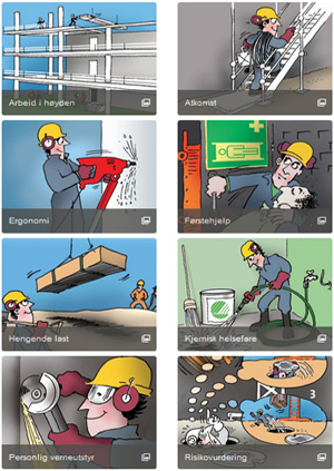 HMS-illustrasjoner for byggenæringen