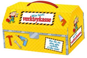 Min første verktøykasse. Med 5 snekkerverktøy og en morsom bok!