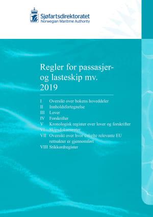 Regler for passasjer og lasteskip mv. 2019, kun bok