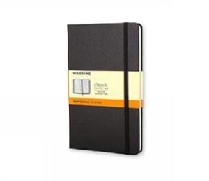 Ruled notebook. Linjert. Stort format. Moleskine