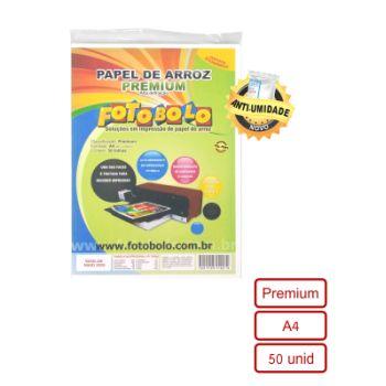Papel Arroz Premium Fotobolo – Pacote com 50 folhas A4
