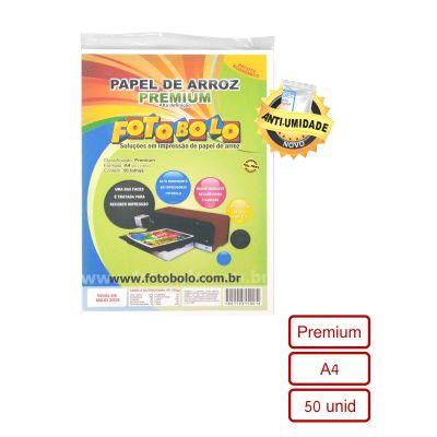 Papel Arroz Premium – pacote com 50 folhas A4