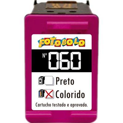 Cartucho HP 60 COLORIDO - com Corante Comestível