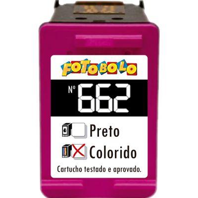 Cartucho 662 COLORIDO - com Corante Comestível
