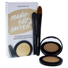Bareminerals Ready Set Correct-Well Rested Cream Color Corrector Neutralizing 0.08 Oz Max Coverage Concealer Brush Mini 0.01 Oz by Bareminerals  for Women