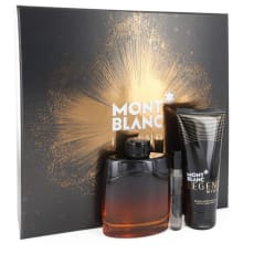 Montblanc Legend Night by Mont Blanc Gift Set -- 3.3 oz Eau De Parfum Spray +.25 oz Mini EDP Spray + 3.3 oz After Shave Balm for Men