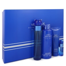 Perry Ellis 360 Very Blue by Perry Ellis Gift Set -- 3.4 oz Eau De Toilette Spray + .25 oz Mini EDT Spray + 3 oz Shower Gel + 6.8 oz Body Spray for Men