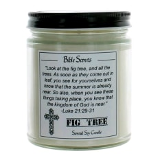 9 Oz Highly Scented Soy Candle With Bible Verse - Fig Tree by Bible Scents