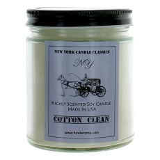 9 Oz Highly Scented Soy Candle - Cotton Clean by New York Candle