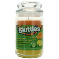 Scented Candle 16 Oz Triple Pour Jar - Sour Lemon/Lime/Orange by Skittles