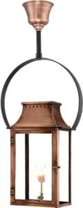 Breaux Bridge Hanging Yoke Copper Lantern by Primo