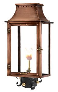 Breaux Bridge Post Mount Copper Lantern by Primo