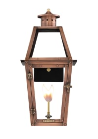 Acadian Wall Mount Copper Lantern by Primo