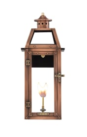 Bienville Wall Mount Copper Lantern by Primo