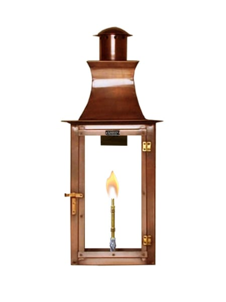 Flambeaux Jamestown Gas/Electric Copper Lantern