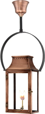 Breaux Bridge Half Yoke Gas Copper Lantern by Primo