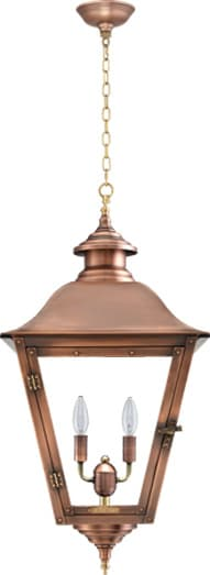 Jolie Hanging Chain Copper Lantern by Primo