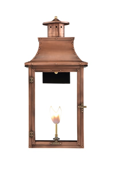 Royal Wall Mount Gas Copper Lantern by Primo