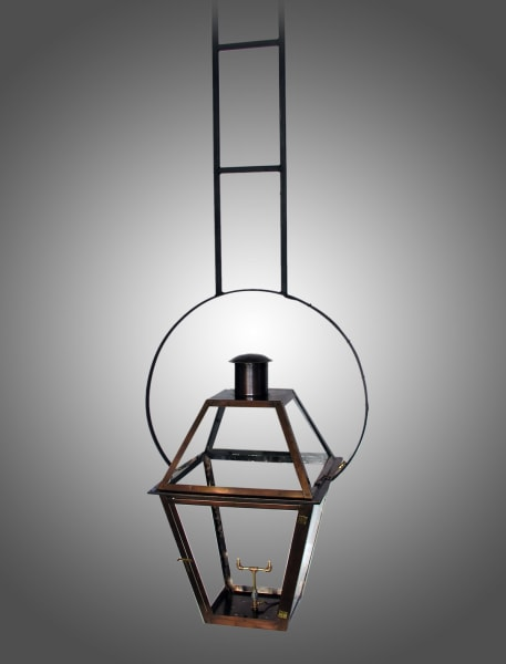 Bourbon Street hanging yoke with ladder stem lantern