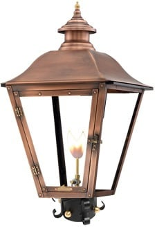 Jolie Post Mount Gas Copper Lantern by Primo