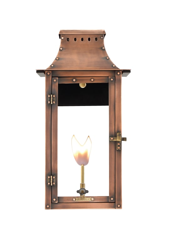 Breaux Bridge Gas Wall Mount Copper Lantern by Primo