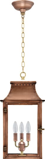 Breaux Bridge Hanging Chain Copper Lantern by Primo